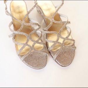 Stuart Weitzman Turning Down Glitter Sandal